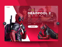 """Daily UI """"Deadpool movie card"""""""