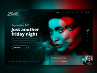 "Daily UI ""The Clubbing"" landing page"