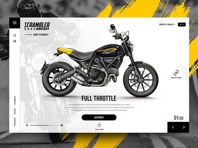 "Daily UI - Concept design for ""Ducati Scrambler"" scrambler motorbike motorcycle ducati ui ux web design website"