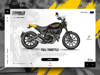 "Daily UI - Concept design for ""Ducati Scrambler"""