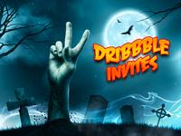 "2 Dribbble Invites ""Trick or Treat"""