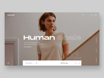 """Daily UI """"Basics Interactions Concept"""" slider fashion typography product minimal concept website interaction web motion interface header principle animation design exploration ux ui"""