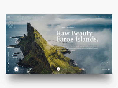 "Daily UI ""New Explorations"" travel typography concept website web interaction header motion interface principle animation design exploration ux ui"