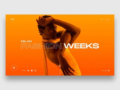 "Daily UI ""Bold Colors"" slider fashion minimal product concept website web interaction header motion interface principle animation design exploration ux ui"