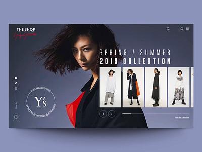 """Daily UI """" Yamamoto Experiment"""" yamamoto webdesign fashion minimal concept website interaction web motion interface header principle animation design exploration ux ui"""