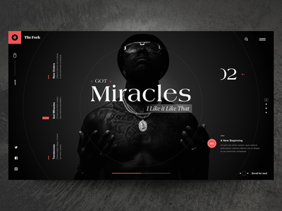"Daily UI "" Super Dark Mode"" music typography minimal web concept header interface animation design exploration ux ui"