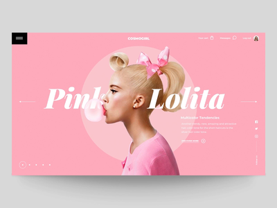 "Daily UI ""Got Pink?"" slider typography parallax fashion webdesign interaction concept website web header motion principle interface animation design exploration ux ui"