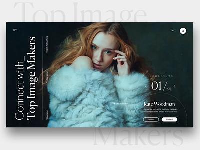 "Daily UI ""Masks Transitions"" slider typography fashion webdesign interaction concept website web header motion principle interface animation exploration ux ui"