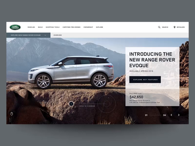 """Daily UI """"Another Parallax Concept"""" header slider concept webdesign parallax product interaction website web motion principle interface animation design exploration ux ui"""