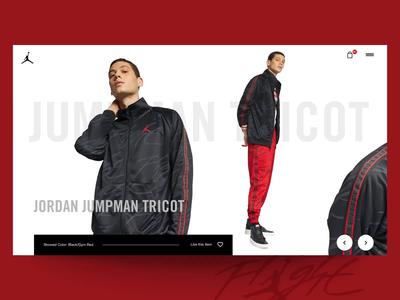"Daily UI ""Jumpman"" jordan slider nike fashion webdesign parallax interaction concept website web motion header principle interface animation design exploration ux ui"