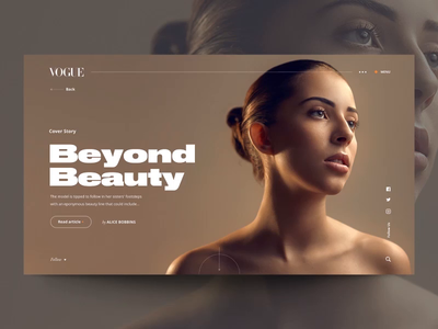 """Daily UI """"Beyond Beauty Animation"""" slider typography parallax fashion minimal product interaction concept website web motion header principle interface animation design exploration ux ui"""