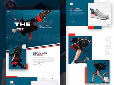 """The Big F"" Landing Page Concept fila webdesign minimal product concept website web interface design exploration ux ui"
