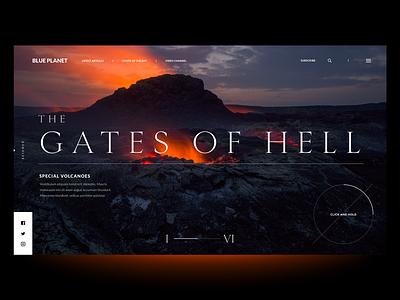 """Nature Magazine Concept"" typography webdesign minimal concept website header web interface design exploration ux ui"