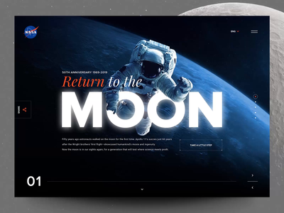 Moon Legacy moon webdesign interaction concept motion principle header web interface animation design exploration ux ui