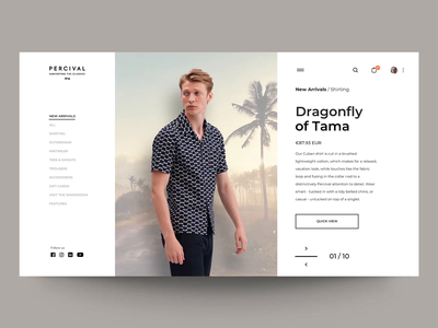 """Slider Carousel interaction"" e-shop parallax fashion webdesign interaction website concept motion principle header web interface animation design exploration ux ui"