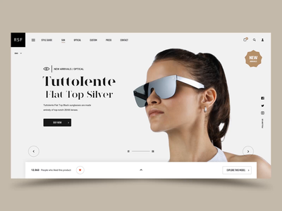 """RSF"" Concept retrosuperfuture fashion webdesign website motion principle concept web interface animation design exploration ux ui"