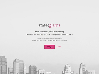 Rapid UX checkup for Streetglams typeform nps satisfaction survey ux streetglams graphility
