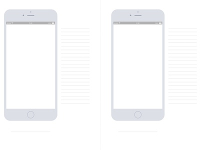 Template for sketching mobile UIs paper ideation concept service design iphone workflow mobile prototyping design