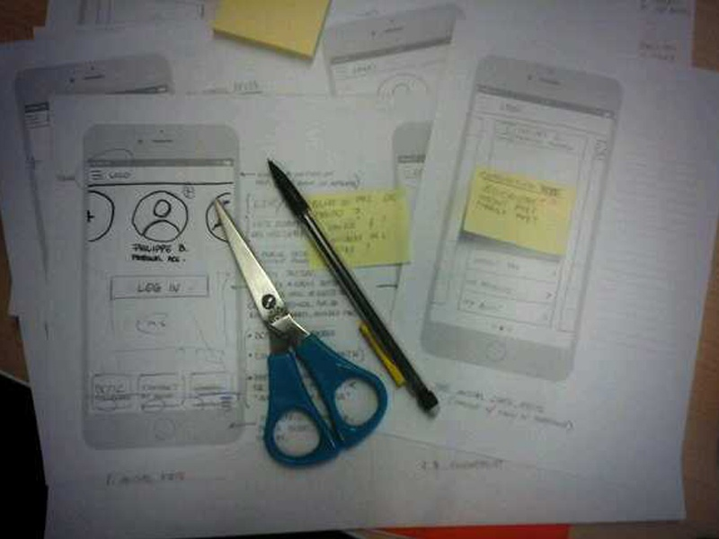 Paper Prototyping design prototyping mobile workflow iphone service design concept ideation paper