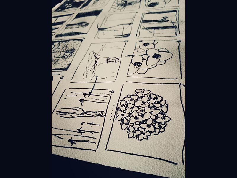 Storyboard for Marta Hurtado Photography marta hurtado photography creative direction sketch drawing storyboard graphility