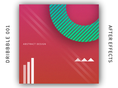 Shapes - Abstract 001 first shot after effects hello dribbble gradient design abstract debut
