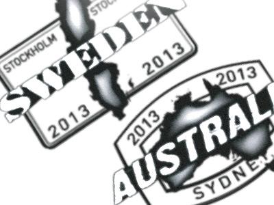 Passport style stamps stamps passport counties