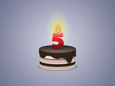 Opera 5th birthday icon version1