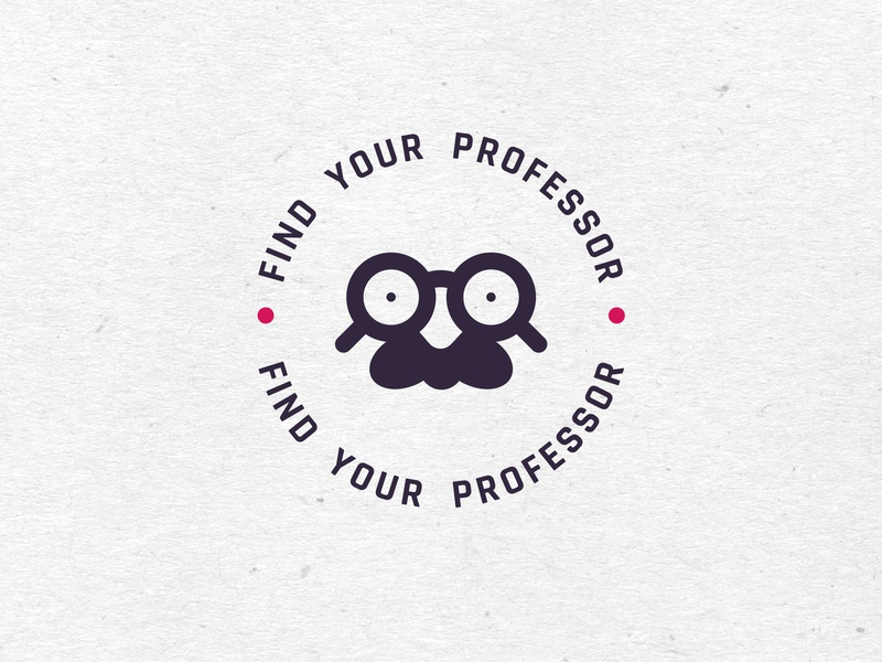 Find your professor logo minimal goggles glass professor professor logo logo