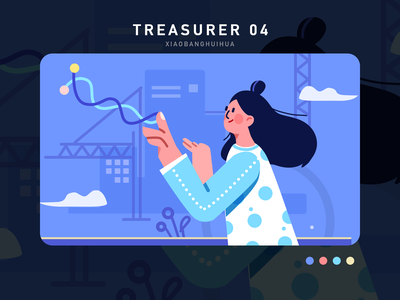 Characters design 插图 person ui illustration