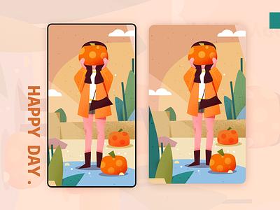 Pumpkins 插图 design color illustration person