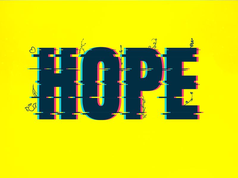 H says Hope colors hope typography art typogaphy typo creative dailychallenge vector illustrator illustration design