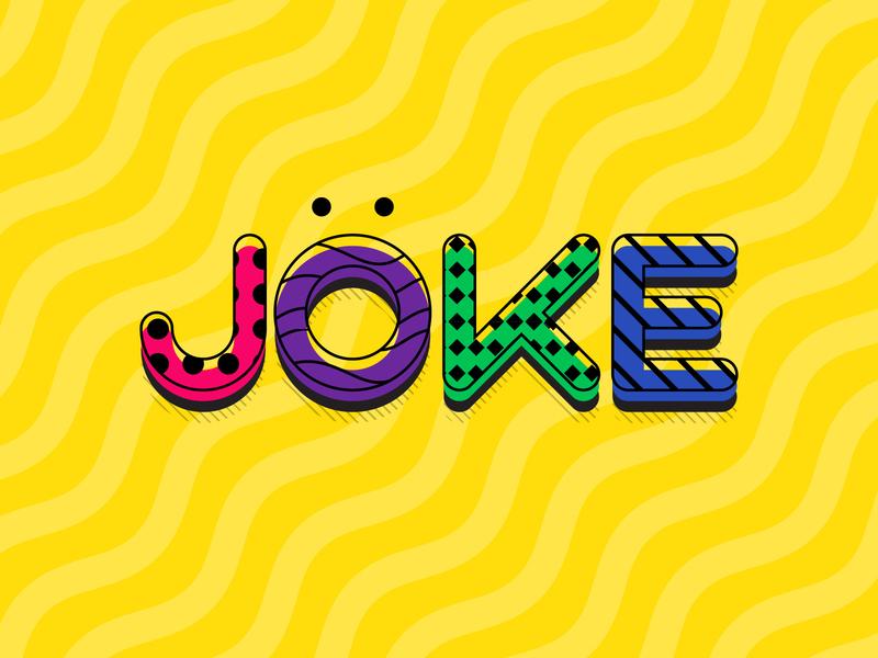 J says Joke funny vibrant colours colors life laugh joke creative dailychallenge vector illustrator illustration design