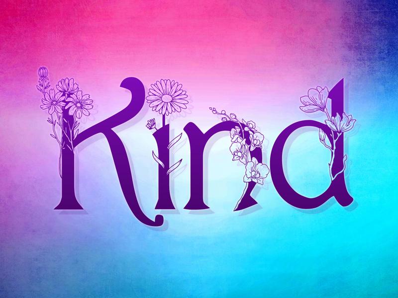 K says Kind life flowers kind typography typo typography art creative dailychallenge vector illustrator illustration design