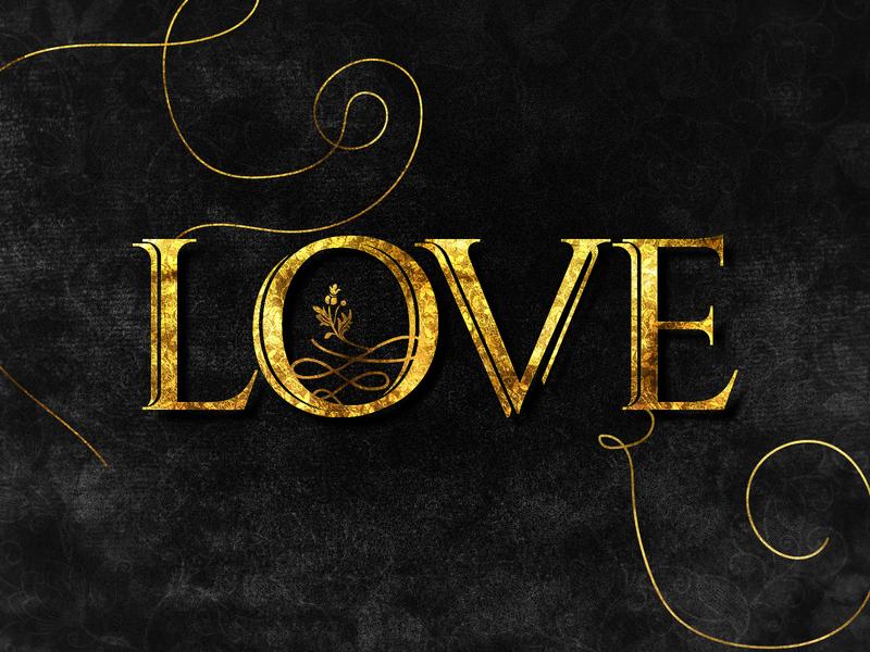 L says Love lovecraft heart beuty glitter gold foil gold velvet love dailychallenge photoshop illustrator illustration design