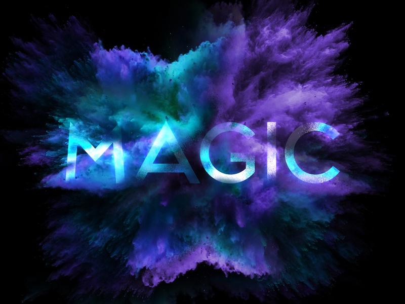 M says Magic explosion colours colors art typography art typography typo creative dailychallenge illustrator illustration design