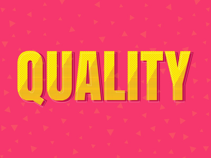 Q say Quality shadow type patterns colours colors quality typography typography art creative dailychallenge cutegraphicstyle flat vector illustrator illustration design