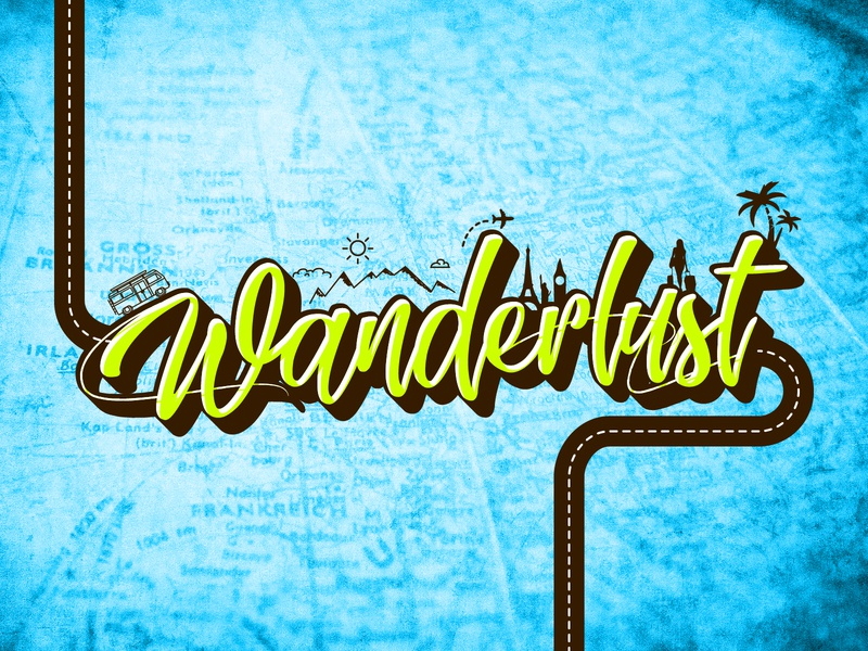 W says Wanderlust holiday vacation road world earth travel wanderlust typography typo typography art creative dailychallenge vector illustrator illustration design