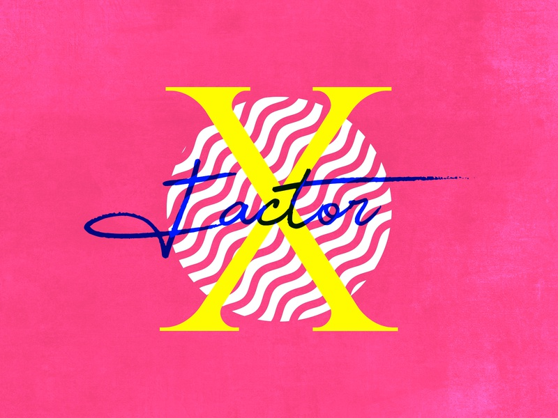 X says Xfactor xfactor typo typographic typography art typography cutegraphicstyle dailychallenge photoshop design