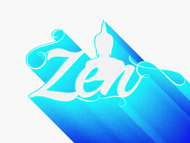 Z says Zen serene serenity buddha peace zen colors typography typo typography art creative dailychallenge photoshop vector illustrator illustration design