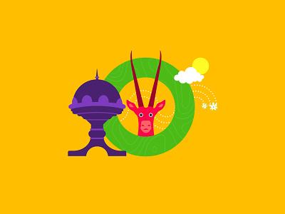 O for Oman jasmine oryx riyam oman cutegraphicstyle dailychallenge vector illustrator illustration design