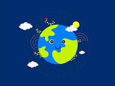 0 says Zero! numbers save earth begining universe earth zero creative cutegraphicstyle dailychallenge vector illustrator illustration design