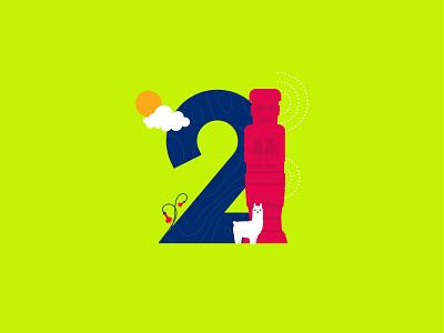 2 is for Bolivia! tiwanaku llama qantuta bolivia typo flat creative cutegraphicstyle dailychallenge vector illustrator illustration design
