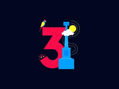 3 is for Fiji! vibes levuka tagimoucia tagimoucia collaredlory fiji art colors bucketlist travel flat creative cutegraphicstyle dailychallenge vector illustrator illustration design