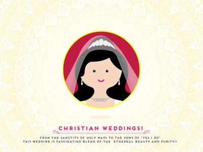 Indian Wedding - Christian Bride