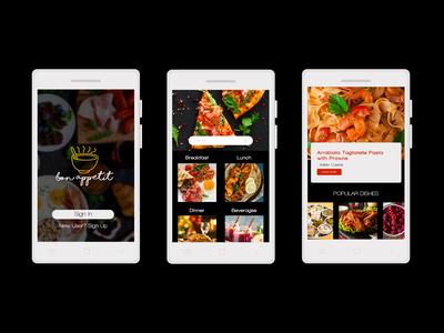 Bon Appetit - App Mockup