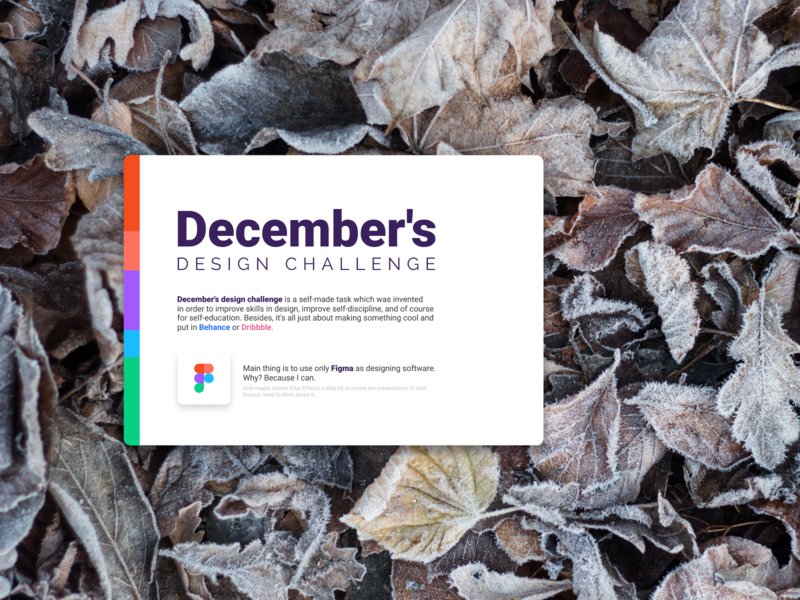 December Design Challenge image layout december shot sketch figma app mobile app ux  ui ui  ux design ui mobile webdesign design challenge