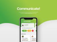 Communicate - social app ui