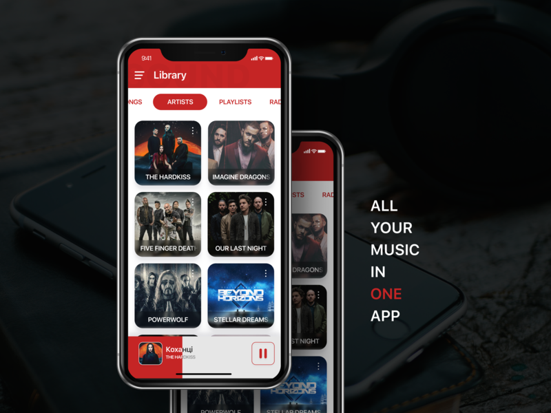Music player – library UI timeline player music player interface minimal inspiration music mobile app application mobile figma clean design ux app ui