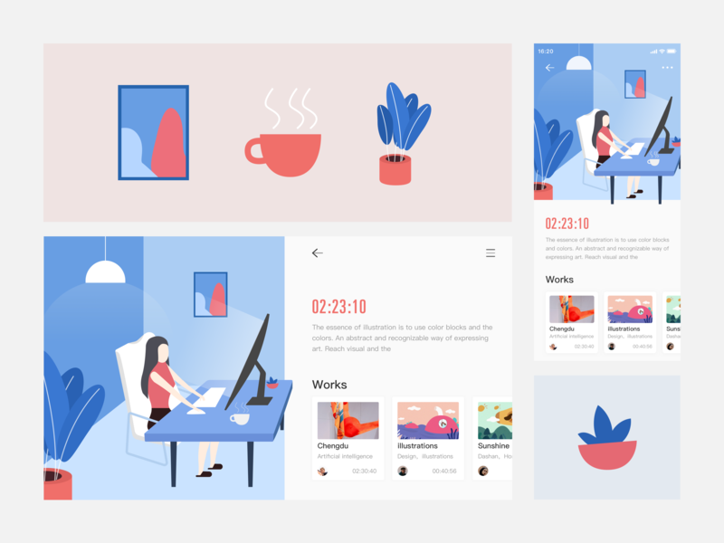 You can work more efficiently web design app ui illustration