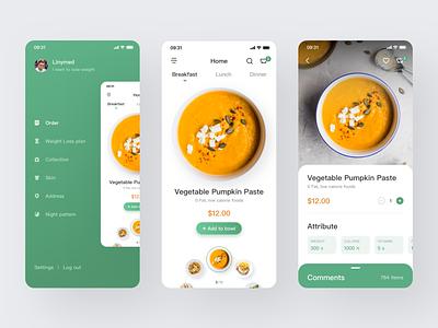 Healthy Slim Food 设计 ux app ui